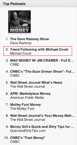 Michael Covel Investing Podcast No. 2 on iTunes