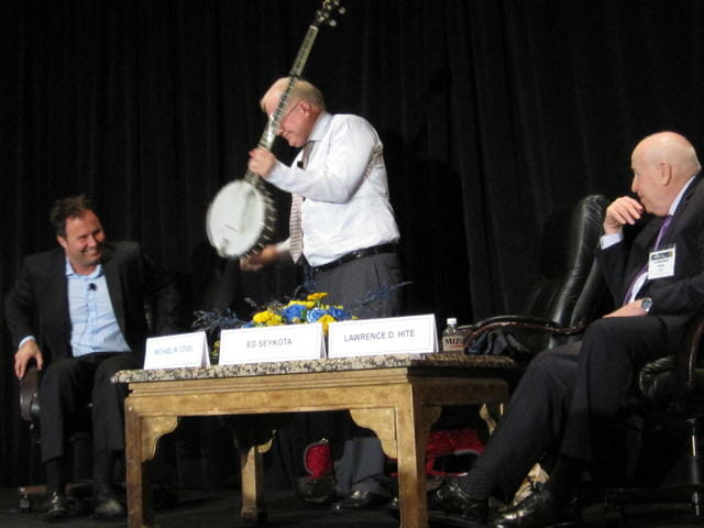 Michael Covel, Ed Seykota and Larry Hite in Chicago