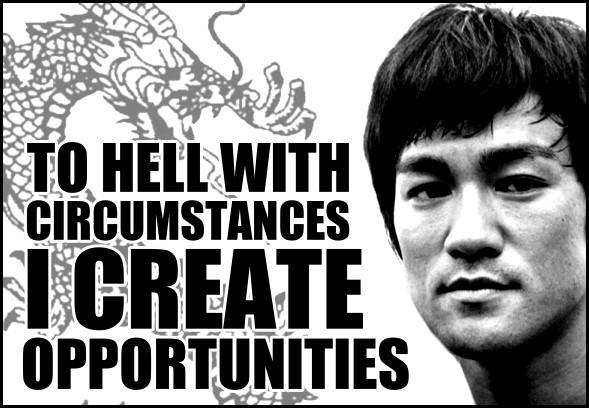 Bruce Lee on Opportunity