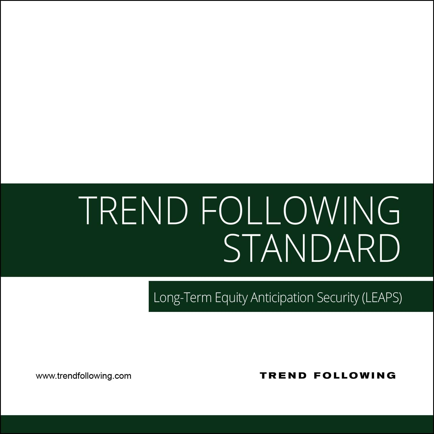 Trend following trading system