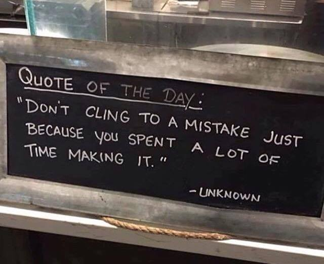 Admit Mistakes