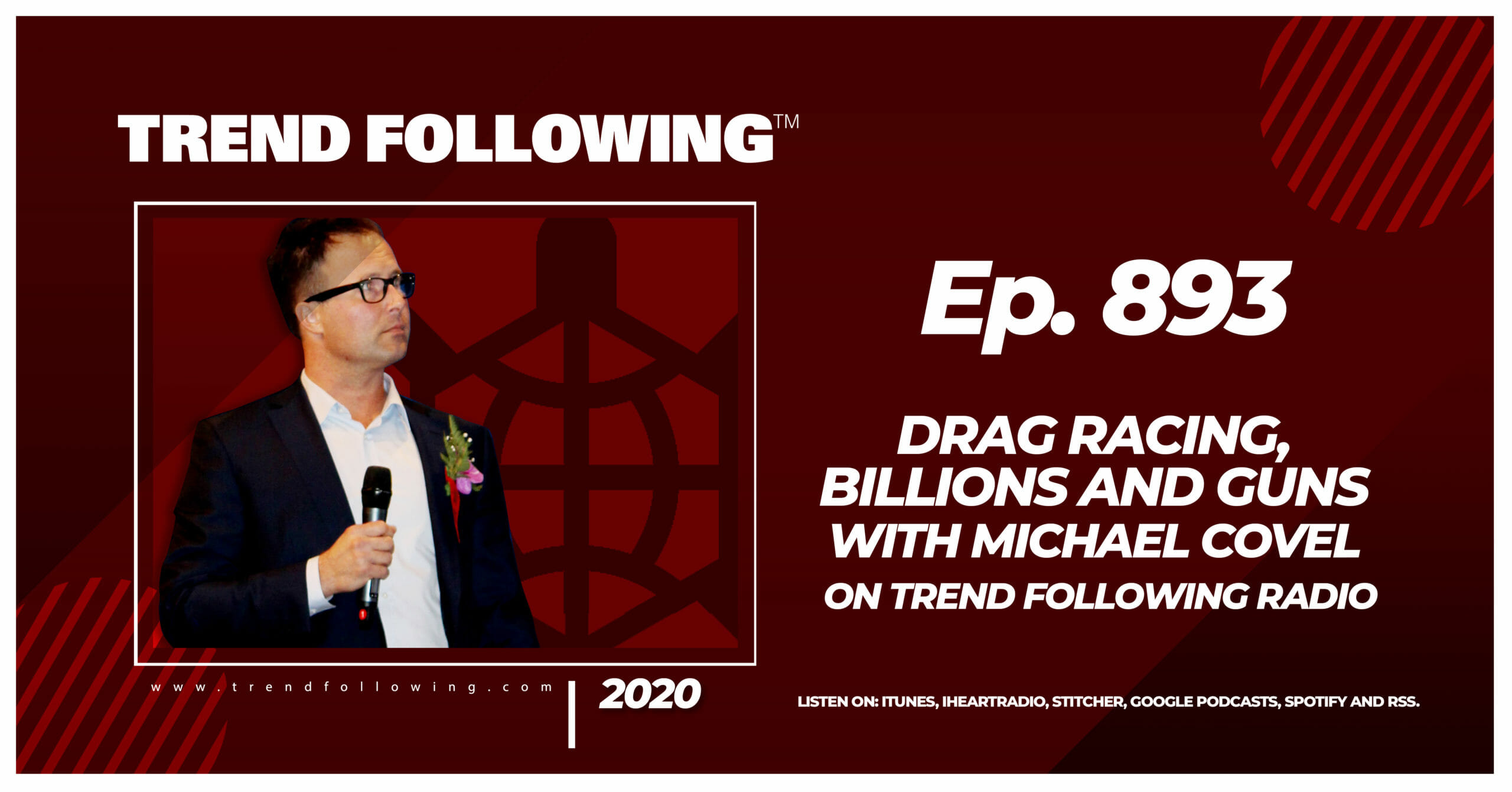 Ep. 893: Drag Racing, Billions and Guns with Michael Covel on Trend Following Radio